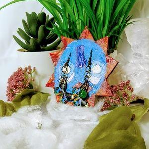 Handmade dangle butterfly earrings
